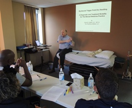 Dr. David Fishkin conducts dry needling training